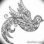 фото рисунок птица хной от 10.11.2017 №011 - drawing a henna bird - tatufoto.com