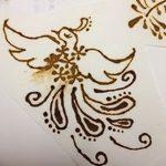 фото рисунок птица хной от 10.11.2017 №014 - drawing a henna bird - tatufoto.com
