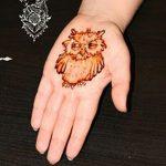 фото рисунок птица хной от 10.11.2017 №018 - drawing a henna bird - tatufoto.com