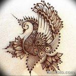 фото рисунок птица хной от 10.11.2017 №025 - drawing a henna bird - tatufoto.com