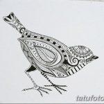 фото рисунок птица хной от 10.11.2017 №027 - drawing a henna bird - tatufoto.com