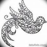 фото рисунок птица хной от 10.11.2017 №028 - drawing a henna bird - tatufoto.com