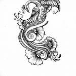 фото рисунок птица хной от 10.11.2017 №030 - drawing a henna bird - tatufoto.com