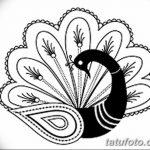 фото рисунок птица хной от 10.11.2017 №035 - drawing a henna bird - tatufoto.com