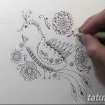 фото рисунок птица хной от 10.11.2017 №038 - drawing a henna bird - tatufoto.com