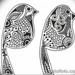 фото рисунок птица хной от 10.11.2017 №043 - drawing a henna bird - tatufoto.com