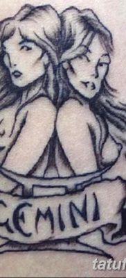 фото тату Близнецы от 28.11.2017 №077 – Tattoo Gemini – tatufoto.com