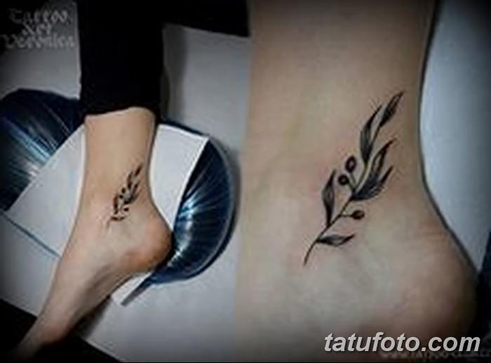 фото тату оливковая ветвь от 13.11.2017 №037 - olive branch tattoo - tatufoto.com