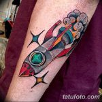 фото тату ракета от 08.11.2017 №031 - tattoo rocket - tatufoto.com