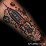 фото тату ракета от 08.11.2017 №055 - tattoo rocket - tatufoto.com