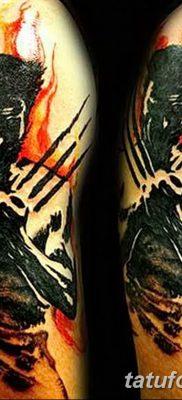 фото тату росомаха от 17.11.2017 №050 – Wolverine tattoo – tatufoto.com