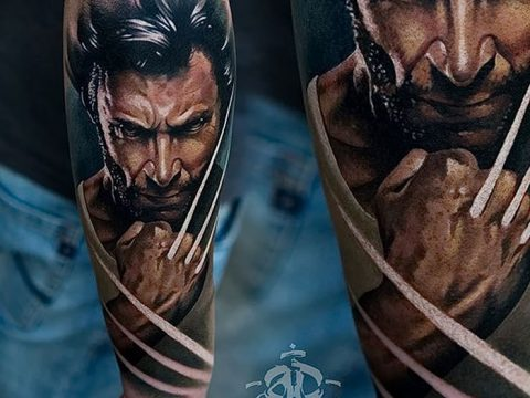 фото тату росомаха от 17.11.2017 №099 - Wolverine tattoo - tatufoto.com
