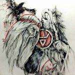 фото эскизы тату сварог от 03.11.2017 №006 - sketches tattoo swarog - tatufoto.com