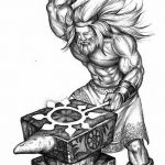 фото эскизы тату сварог от 03.11.2017 №022 - sketches tattoo swarog - tatufoto.com