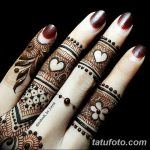 фото Мехенди на пальцах рук от 26.12.2017 №018 - Mehendi on fingers of han - tatufoto.com