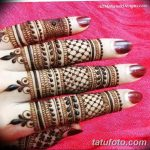 фото Мехенди на пальцах рук от 26.12.2017 №046 - Mehendi on fingers of han - tatufoto.com