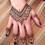 фото Мехенди на пальцах рук от 26.12.2017 №047 - Mehendi on fingers of han - tatufoto.com