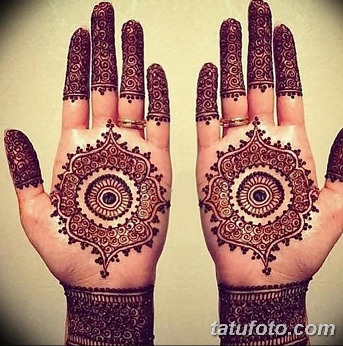 фото Мехенди на пальцах рук от 26.12.2017 №054 - Mehendi on fingers of han - tatufoto.com