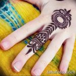 фото Мехенди на пальцах рук от 26.12.2017 №065 - Mehendi on fingers of han - tatufoto.com