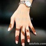 фото Мехенди на пальцах рук от 26.12.2017 №076 - Mehendi on fingers of han - tatufoto.com