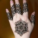 фото Мехенди на пальцах рук от 26.12.2017 №077 - Mehendi on fingers of han - tatufoto.com