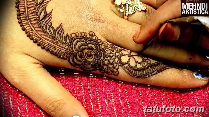 фото Мехенди на пальцах рук от 26.12.2017 №106 - Mehendi on fingers of han - tatufoto.com
