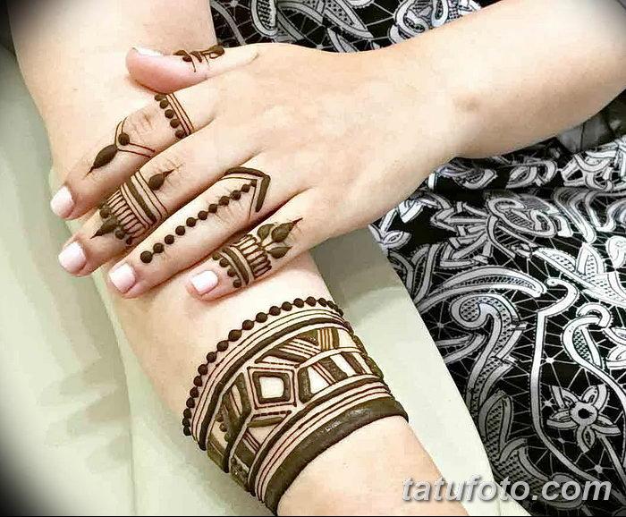 фото Мехенди на пальцах рук от 26.12.2017 №117 - Mehendi on fingers of han - tatufoto.com