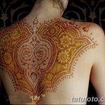 фото Мехенди на спине от 26.12.2017 №019 - Mehendi on the back - tatufoto.com