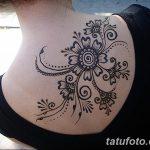 фото Мехенди на спине от 26.12.2017 №025 - Mehendi on the back - tatufoto.com