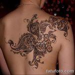 фото Мехенди на спине от 26.12.2017 №039 - Mehendi on the back - tatufoto.com