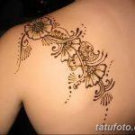 фото Мехенди на спине от 26.12.2017 №051 - Mehendi on the back - tatufoto.com