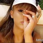 фото Тату Арианы Гранде от 03.12.2017 №037 - Ariana Grande Tattoo - tatufoto.com