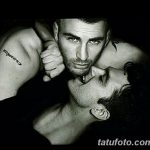 фото Тату Криса Эванса от 19.12.2017 №002 - Chris Evans Tattoo - tatufoto.com