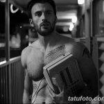 фото Тату Криса Эванса от 19.12.2017 №042 - Chris Evans Tattoo - tatufoto.com