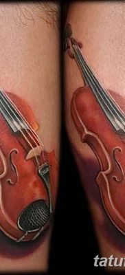 фото тату Скрипка от 26.12.2017 №002 – tattoo Violin – tatufoto.com