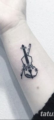 фото тату Скрипка от 26.12.2017 №005 – tattoo Violin – tatufoto.com