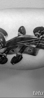 фото тату Скрипка от 26.12.2017 №006 – tattoo Violin – tatufoto.com