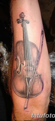фото тату Скрипка от 26.12.2017 №009 – tattoo Violin – tatufoto.com