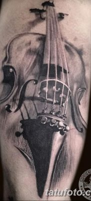фото тату Скрипка от 26.12.2017 №011 – tattoo Violin – tatufoto.com