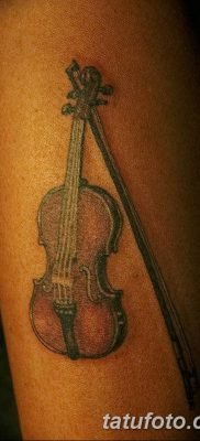 фото тату Скрипка от 26.12.2017 №016 – tattoo Violin – tatufoto.com