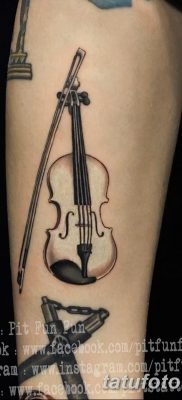 фото тату Скрипка от 26.12.2017 №027 – tattoo Violin – tatufoto.com