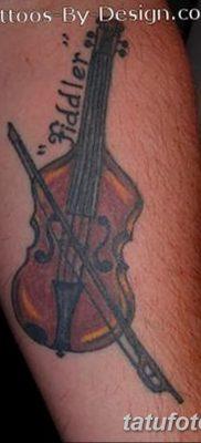 фото тату Скрипка от 26.12.2017 №030 – tattoo Violin – tatufoto.com