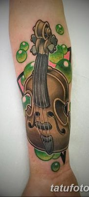 фото тату Скрипка от 26.12.2017 №036 – tattoo Violin – tatufoto.com