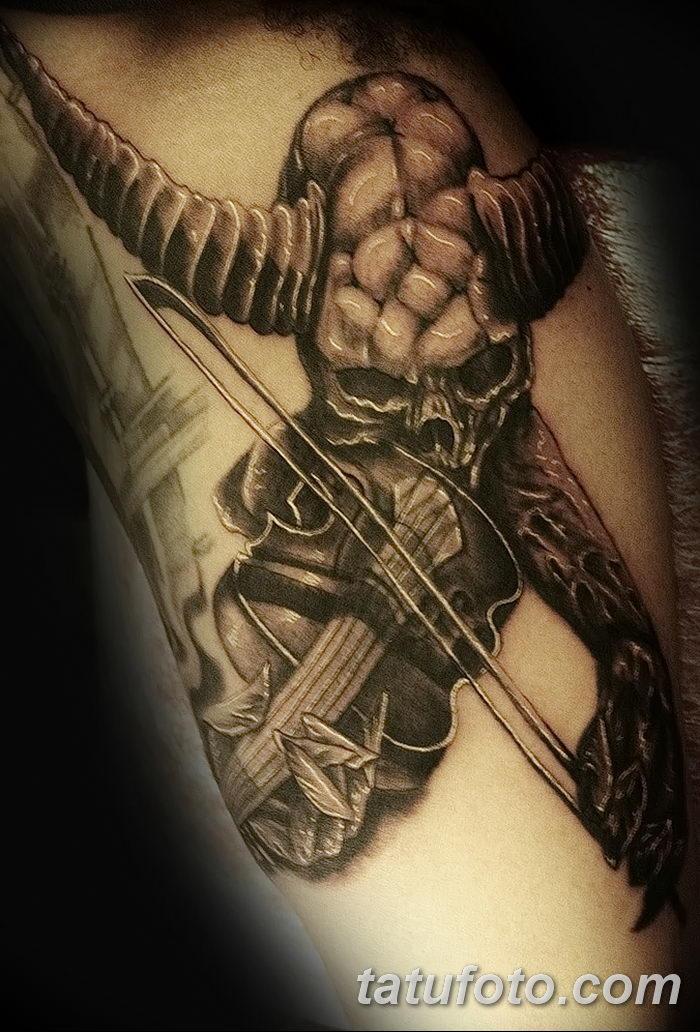 фото тату Скрипка от 26.12.2017 №040 - tattoo Violin - tatufoto.com