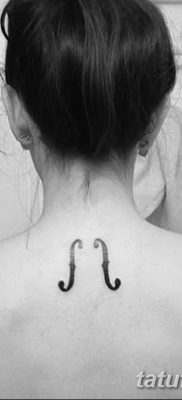фото тату Скрипка от 26.12.2017 №044 – tattoo Violin – tatufoto.com