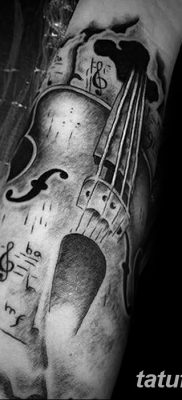 фото тату Скрипка от 26.12.2017 №050 – tattoo Violin – tatufoto.com