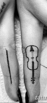 фото тату Скрипка от 26.12.2017 №060 – tattoo Violin – tatufoto.com