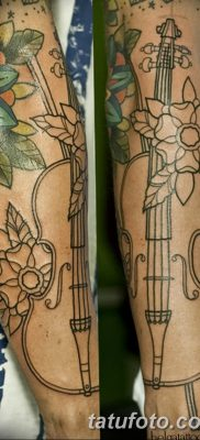 фото тату Скрипка от 26.12.2017 №062 – tattoo Violin – tatufoto.com