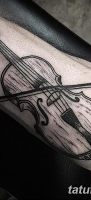 фото тату Скрипка от 26.12.2017 №066 – tattoo Violin – tatufoto.com