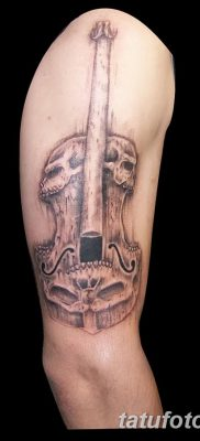 фото тату Скрипка от 26.12.2017 №070 – tattoo Violin – tatufoto.com